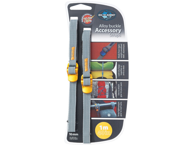 Sea to Summit Alloy Buckle Accessory Straps 10mm/1m, yellow
